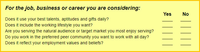 Career Quiz Questions
